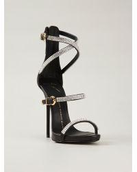 Giuseppe Zanotti Crystal Embellished Sandals - Lyst