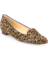 Manolo Blahnik Sharif Leopardprint Suede Loafers - Lyst