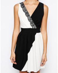 Wal-g Wrap Front Skater Dress - Lyst