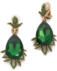 Oscar de la Renta Crystal Earrings - Jade - Lyst