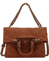 Elliott Lucca - Iara Leather Foldover Crossbody Tote Bag - Lyst