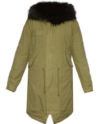 Mr & Mrs Italy - Fur-trimmed Long Canvas Parka - Lyst