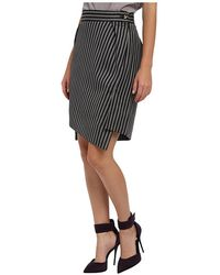 Vivienne Westwood Red Label High Low Striped Skirt - Lyst