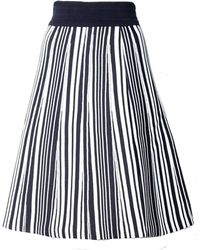 O'2nd Hatu Navy Stripe Skirt - Lyst