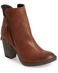 Steve Madden Women'S 'Ryat' Leather Ankle Bootie - Lyst
