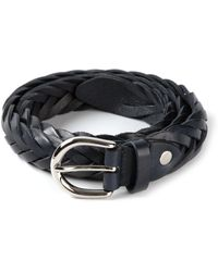 Neil Barrett Blue Braided Belt - Lyst