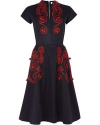 Suno Oriental Embroidery Dress - Lyst