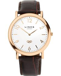 Links Of London Noble Classic Gold-Plated Stainless Steel Watch - For Men - Lyst