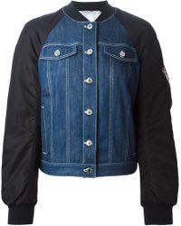 Givenchy Bomber Sleeves Denim Jacket - Lyst