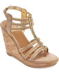 Dolce Vita Dv By Tenley Platform Wedge Sandals - Lyst