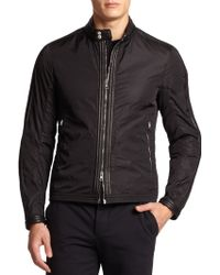 Moncler Daquin Leather-Trim Nylon Jacket - Lyst