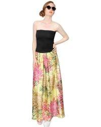 Antonio Marras Cotton And Silk Twill Skirt/ Long Dress - Lyst