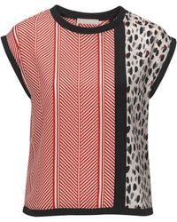 Stefanel Printed Silk Top - Lyst