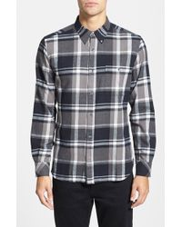 French Connection 'Winter Checks' Slim Fit Brushed Twill Sport Shirt - Lyst