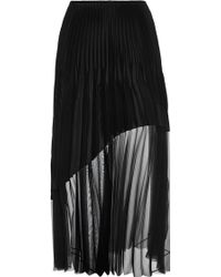 Barbara Casasola Black Crepe Pleated Skirt - Lyst