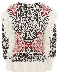 Emilio Pucci Fringe Trim Mohair-blend Sweater - Lyst