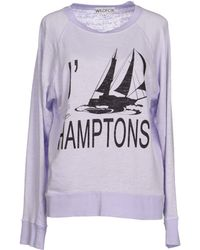 Wildfox Purple Sweatshirt - Lyst