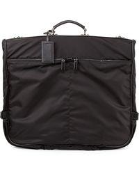 Prada Saffiano-Trim Garment Bag - Lyst