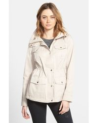 Guess Contrast Trim Four Pocket Anorak - Lyst