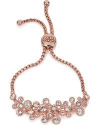 Caroline Creba - Swarovski Crystal Bracelet Rose Gold & Clear - Lyst