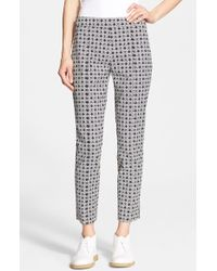 Tory Burch 'Callie' Jacquard Seamed Crop Pants - Lyst