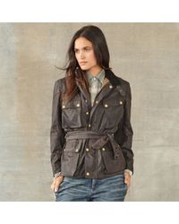 RRL - Cotton Oilcloth Biker Jacket - Lyst