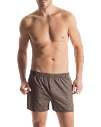 Hanro Fancy Woven Floral Boxer Shorts - Lyst