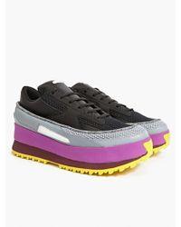 Raf Simons Adidas By Mens Platform Lace Trainers black - Lyst