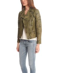 Lucien Pellat Finet Perforated Skull Leather Jacket - Lyst
