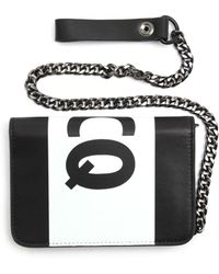McQ by Alexander McQueen Black Logo and Chain Wallet - Lyst