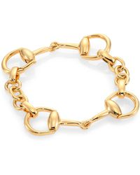 Gucci Horsebit 18k Yellow Gold Bracelet - Lyst