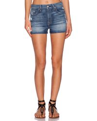 7 For All Mankind Hw Cut Off Shorts - Lyst