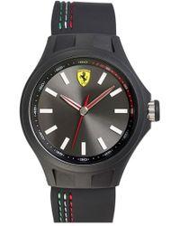 Scuderia Ferrari - 'pit Crew' Silicone Strap Watch - Lyst