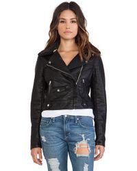 Obey Eddie Vegan Leather Jacket - Lyst