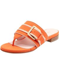 Taryn Rose Ikia Thong Sandal with Buckle - Lyst