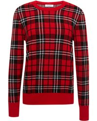 Equipment Scholarly Plaid Jacquard Shane Crew - Lyst