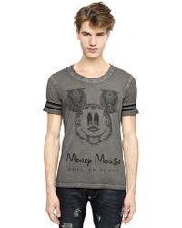 Philipp Plein Money Mouse Printed Cotton T-Shirt - Lyst