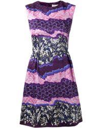 Peter Pilotto Tri Classic Silk Dress purple - Lyst