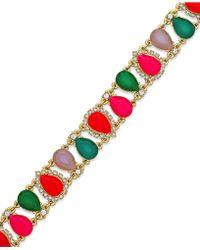 Kate Spade Gold-Tone Multicolor Balloon Stone Bracelet - Lyst
