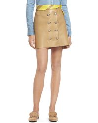 Gucci Camel Leather Skirt beige - Lyst