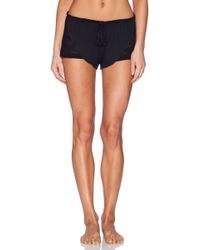 Eberjey Black Rosette Shorts - Lyst
