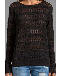 Nightcap - Autumn Leaf Lace Sweater in Black - Lyst