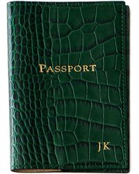 Graphic Image - Crocodile-embossed Leather Passport Cover - Lyst