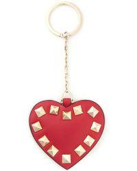 Valentino Heart Shape Keyring - Lyst