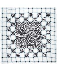 Rodarte - Plaid and Zebra Scarf - Lyst