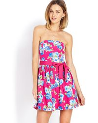 Forever 21 Garden Party Tube Dress - Lyst