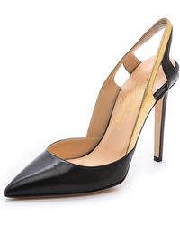 Alejandro Ingelmo - Frederica Pointed Toe Pumps Blackgold - Lyst