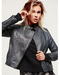 Free People Reminiscent Motorcycle Leather Jacket - Lyst