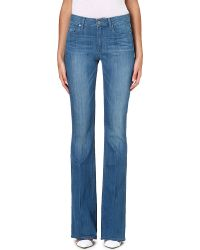 Paige Bell Canyon Highrise Flared Jeans Lovelight - Lyst