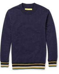 Raf Simons Sterling Ruby Fleeceback Cottonjersey Sweatshirt - Lyst